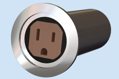 KF40, 125 Volt, 15 A Socket Feedthrough