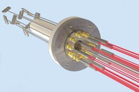 Heater, sensor, feedthrough